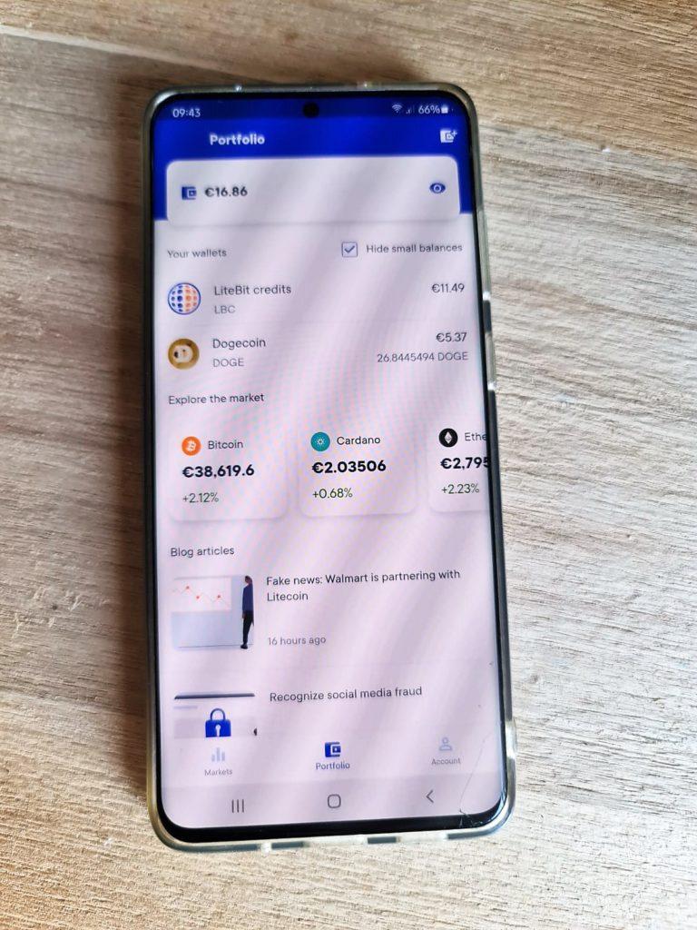 LiteBit review: Portfolio